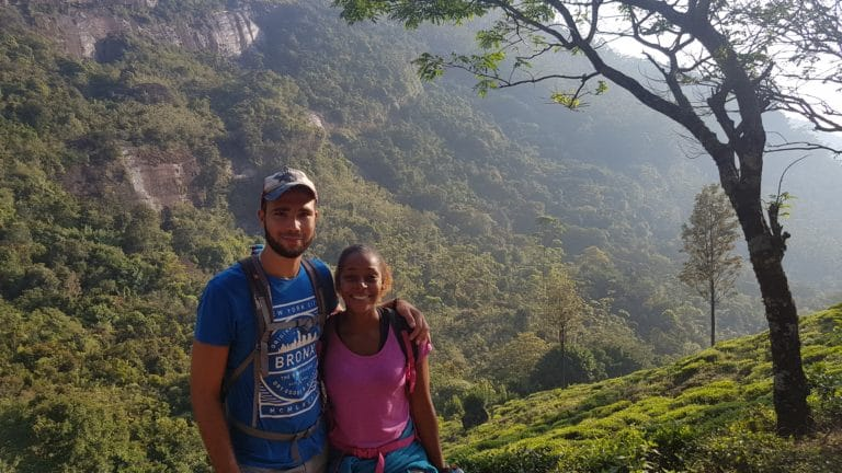 vue montagne Adam's Peak sri lanka