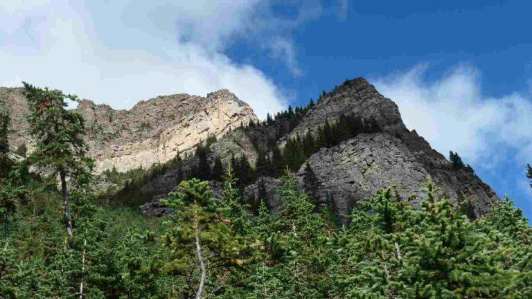 pic du mont Fairview vue d'en bas