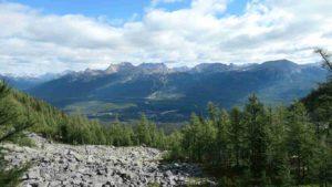 vue sur les montagne environnantes