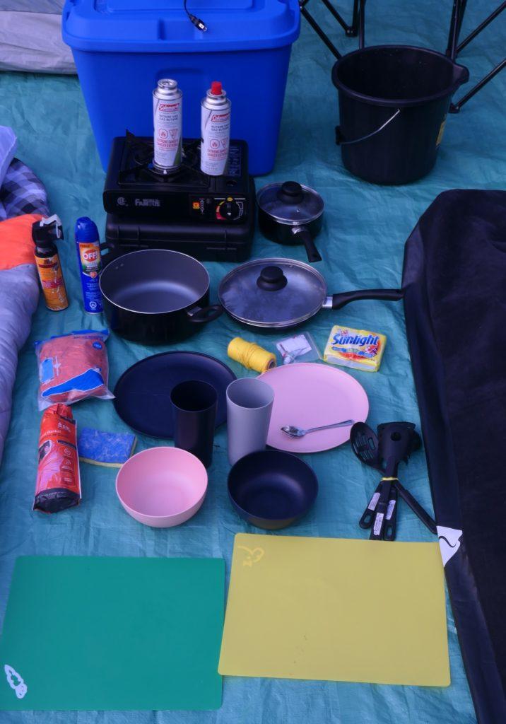 ustentiles pour cuisiner en camping