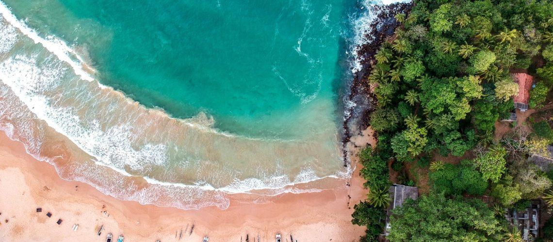 plage panoramique sri lanka mer ocean gratuit