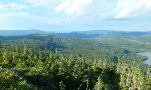 vue sur les montagnes de Charlevoix